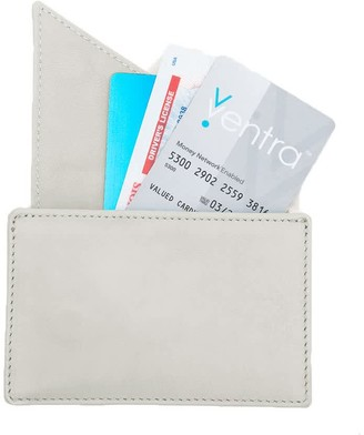 Insider Leather Card Holder Wallet In Cream