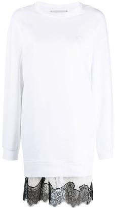 Philosophy di Lorenzo Serafini Lace-Trim Sweater Dress
