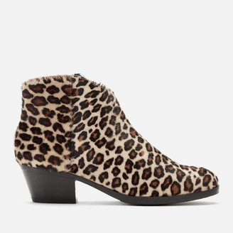 Clarks Women's Mila Myth Pony Heeled Ankle Boots - Leopard Print