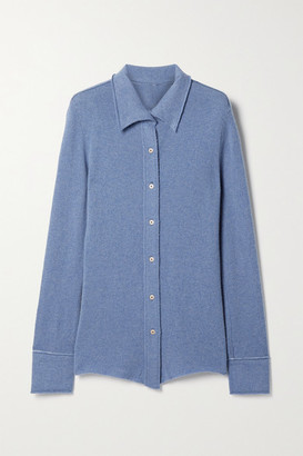 The Elder Statesman Tranquility Cashmere Shirt - Blue