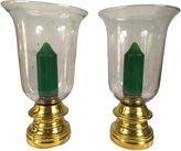 One Kings Lane Vintage Sarreid Brass Hurricanes, S/2