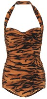 Thumbnail for your product : Norma Kamali Exclusive to Mytheresa a Bill tiger-print swimsuit