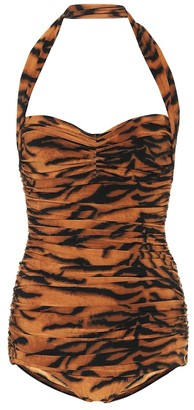 Norma Kamali Exclusive to Mytheresa a Bill tiger-print swimsuit