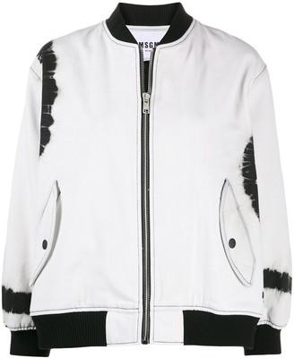 MSGM Tie-Dye-Print Bomber Jacket