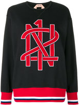 No.21 logo patch sweatshirt - women - Cotton/Polyester - 38