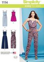 Simplicity Patterns 1114 Misses' Easy Dress and Jumpsuits