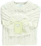 Baby Dove Unisex Baby Cable Knit Cardigan & Beanie Set