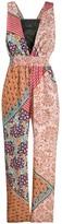 Pinko sleeveless patchwork print jumpsuit