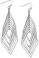 INC International Concepts Silver-Tone Multi-Diamond Drop Earrings