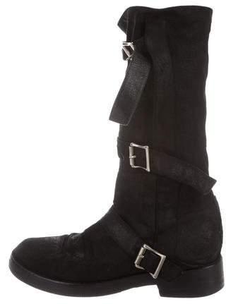 Ann Demeulemeester Suede Mid-Calf Boots