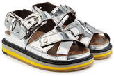 Maison Margiela Metallic Leather Sandals
