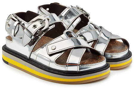 Maison Margiela Metallic Leather Sandals