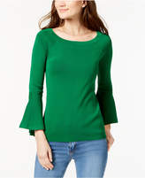 INC International Concepts Anna Sui Loves I.N.C. Ruffled-Sleeve Sweater, Created for Macy's