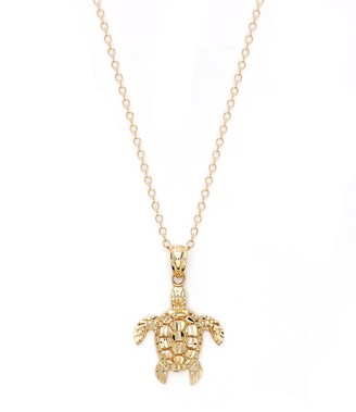Saks Fifth Avenue 14K Yellow Gold Turtle Pendant Necklace