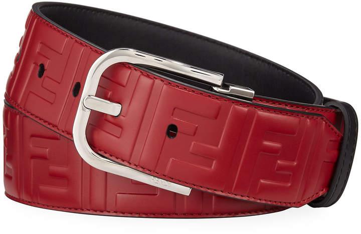 171451a9 Men's Logo-Embossed Leather Belt