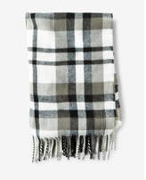 Express fringed plaid scarf