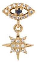 Ileana Makri Diamond, sapphire & yellow-gold earring