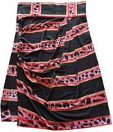 Leonard Black Silk Skirt for Women