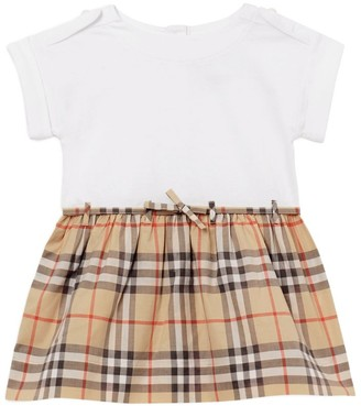 Burberry Kids Vintage Check-Detail Cotton Dress