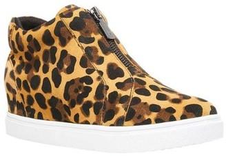 Blondo Glenda Waterproof Suede Zip Up Hidden Wedge Heel Sneaker (Women's)