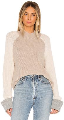 Splendid Alta Color Block Cashmere Blend Sweater