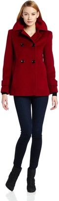 Calvin Klein Women's Double Breasted A Line Coat