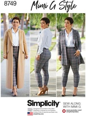 Simplicity Mimi G Style Coat and Trousers, 8749