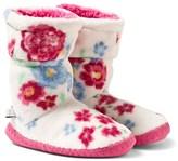 Joules Cream Floral Fleece Slipper Socks