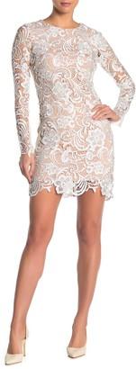 Dress the Population Jessica Long Sleeve Lace Mini Dress