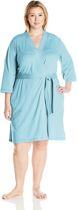 Amazon Essentials Women's Plus Size 100% Cotton Robe