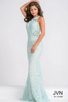 Jovani Sleeveless Fitted Lace Long Dress JVN36779