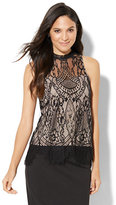 New York & Co. Lace-Overlay Sleeveless Top