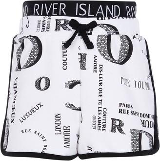 River Island Girls White printed runner short