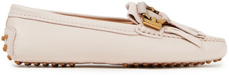 Tod's Fringed Pebbled-leather Loafers