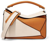 Loewe Puzzle Two-tone Textured-leather Shoulder Bag - Tan