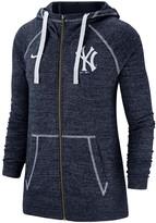 Nike Women's Navy New York Yankees Gym Vintage Team Full-Zip Hoodie