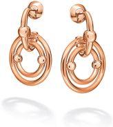 Folli Follie Bonds rose gold drop earrings