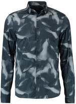Calvin Klein Gilt Contour Print Slim Fit Shirt True Navy