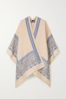 Etro Mantella Wool-blend Jacquard Wrap - Ivory