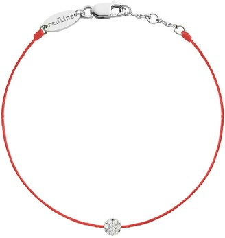Redline Single Diamond Red Illusion Bracelet - White Gold