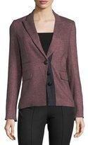 Veronica Beard Sterling Placket Herringbone Tailored Jacket