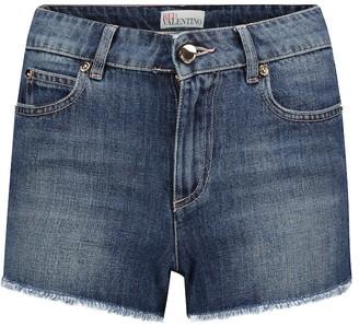 RED Valentino mid-rise denim shorts