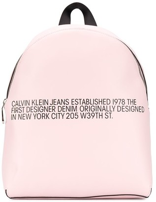 Calvin Klein Jeans Slogan-Print Backpack