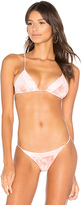 Tori Praver Swimwear Lahaina Triangle Bikini Top in Coral. - size L (also in )