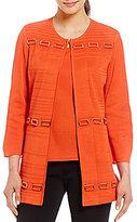 Ming Wang Jewel Neck Hardware Detail Jacket