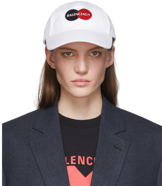 Balenciaga White Uniform Logo Cap