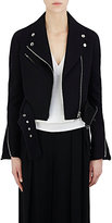 Givenchy Women's Felt Crop Moto Jacket-BLACK