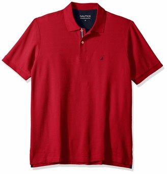 Nautica Men's Classic Fit Short Sleeve Solid Performance Deck Polo Shirt