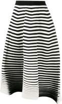 Issey Miyake striped knitted skirt