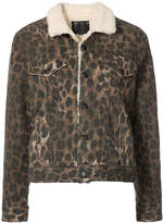 R 13 button-down leopard print jacket